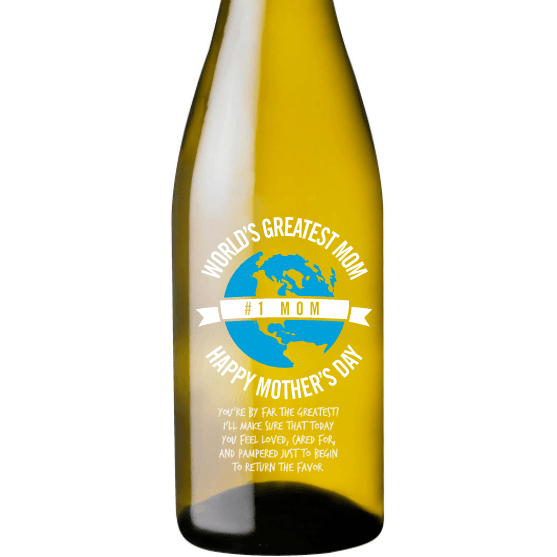Personalized White Wine - World's Greatest Mom