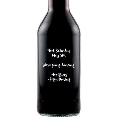 Mini Red Wine Wedding Favors (Case of 12) - Open Text