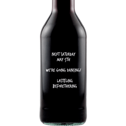 Personalied Mini Red Wine Wedding Favors - Open Text