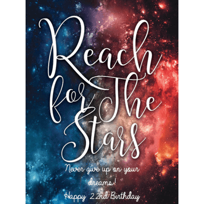 Personalized Champagne - Reach for the Stars Label