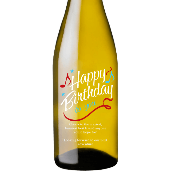 Personalized White Wine - Happy Birthday to You