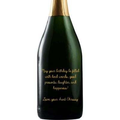 Personalized Champagne - Custom Birthday Message