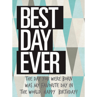 Personalized White Wine - Best Day Ever Label