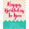 Personalized Champagne - Happy Birthday Chevrons Label