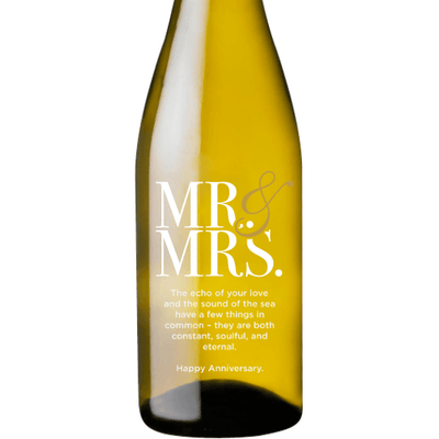 Personalized White Wine - Mr & Mrs Contemporary