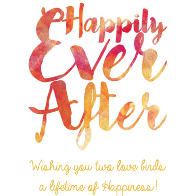 Personalized White Wine - Happily Ever After Label