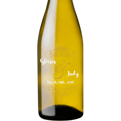 Personalized White Wine - Fancy Couple