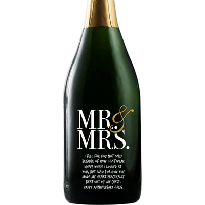 Personalized Champagne - Mr & Mrs Contemporary