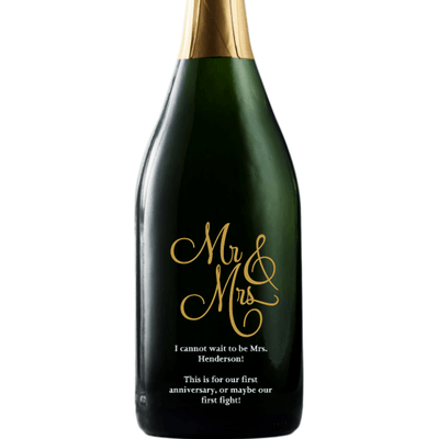 Personalized Champagne - Mr & Mrs