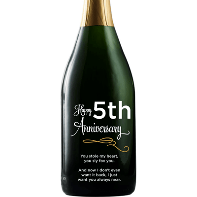 Personalized Champagne - Happy Anniversary Curls
