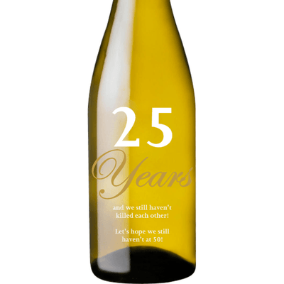 Personalized White Wine - Anniversary Years