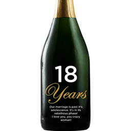 Personalized Etched Champagne Bottle Gift  Bottle Gift - Anniversary Years with custom text