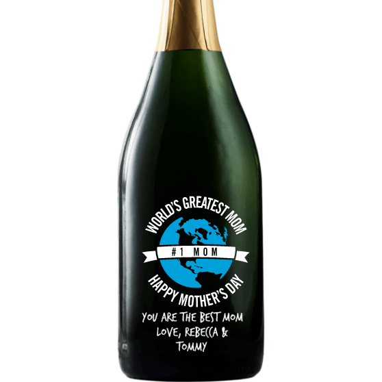 Personalized Champagne - World's Greatest Mom