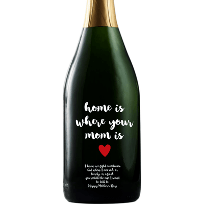 Personalized Champagne - Mom is Home