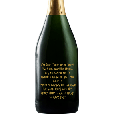 Personalized Champagne - Custom Message for Mom