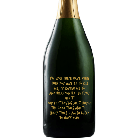 Champagne - Custom Message for Mom