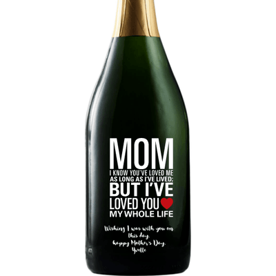 Personalized Champagne - Mom Whole Life