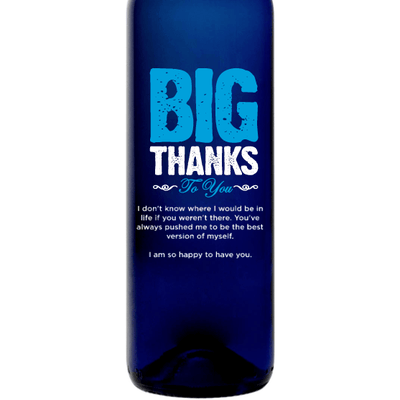 Personalized Blue Bottle - Big Thanks to You