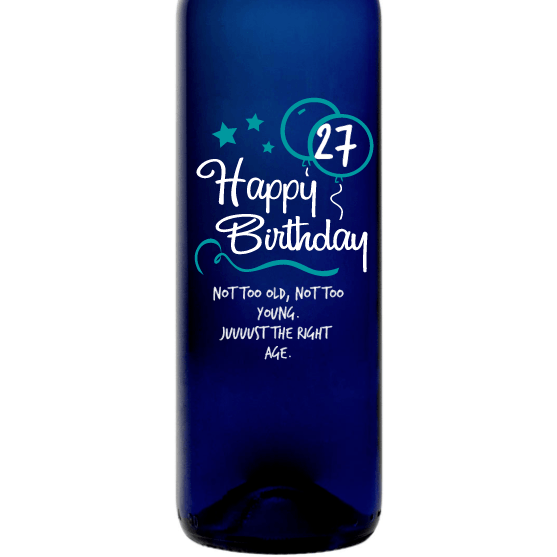 Personalized Blue Bottle - Birthday Blue Balloons