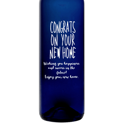 Personalized Blue Bottle - Congrats on Your New Home
