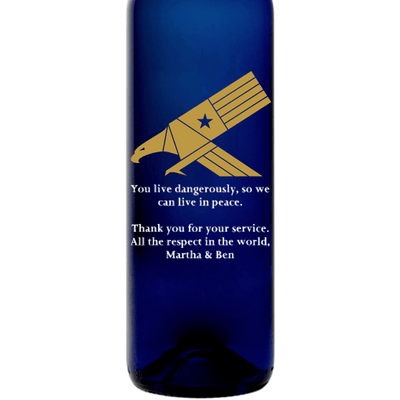 Personalized Blue Bottle - Eagle