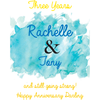 Personalized Blue Bottle - Happily Ever After Couple Label