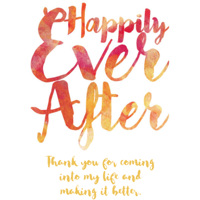 Personalized Blue Bottle - Happily Ever After Label