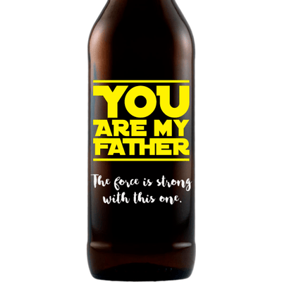 You are My Father custom engraved beer Father's Day gift for scifi lover by Etching Expressions