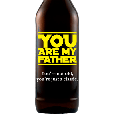 You are My Father custom etched beer Father's Day gift for Star Wars lovers by Etching Expressions