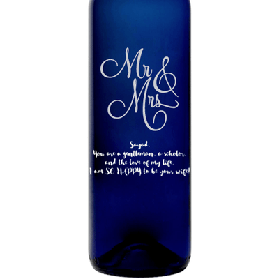 Personalized Blue Bottle - Mr & Mrs
