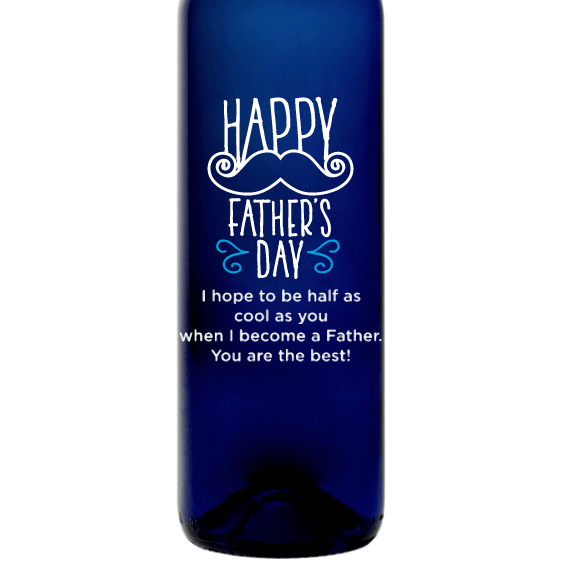Blue Bottle - Mustache Fathers Day