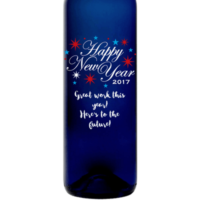 Personalized Blue Bottle - New Year Celebration
