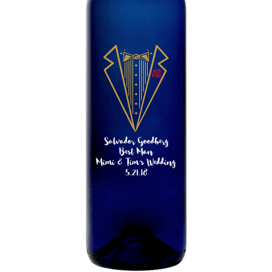 Personalized Blue Bottle - Tuxedo