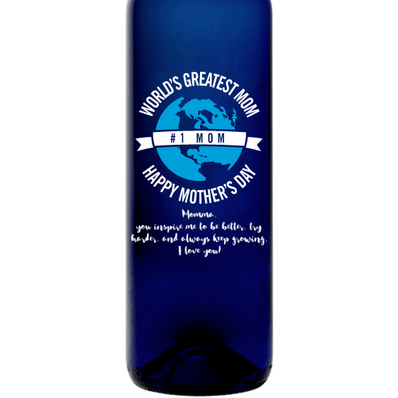 Personalized Blue Bottle - World's Greatest Mom