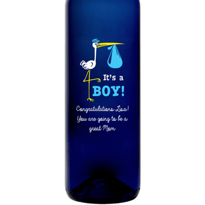 Personalized Bartenura-moscato gift to celebrate newborn baby It's a Boy