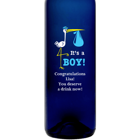 Personalized Blue Bottle - It's a Boy