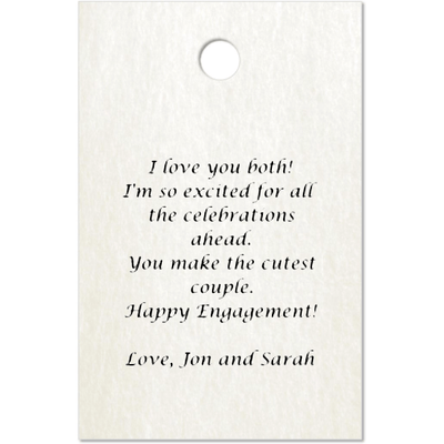 Personalized Hangtag