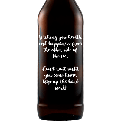 Personalized Beer Bottle Gift - Customize your text