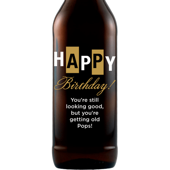 Beer - Happy Birthday Bold