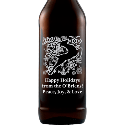 Beer - Happy Holidays Reindeer