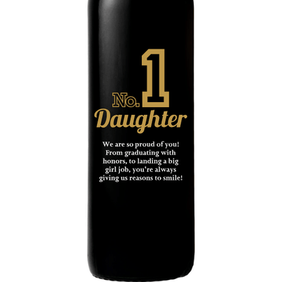Personalized Red Wine Bottle- Number 1 Daughter