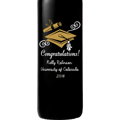 Red Wine - Graduation Cap
