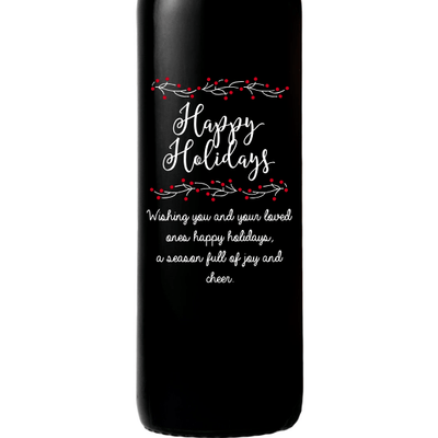 Red Wine - Happy Holidays Berries