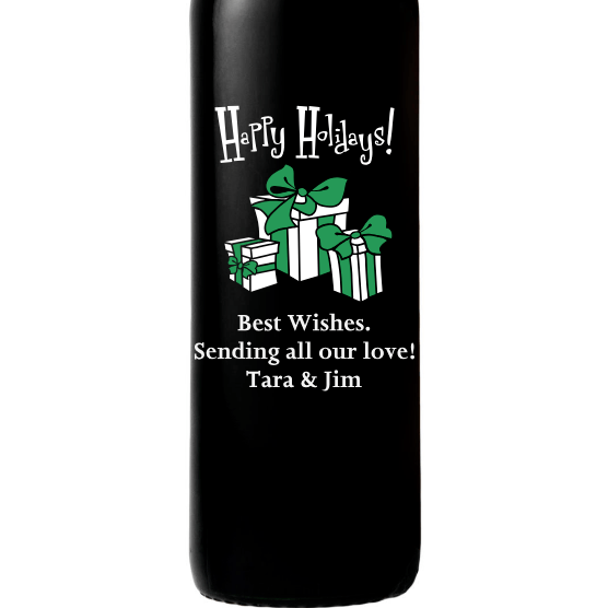 Red Wine - Happy Holidays Presents