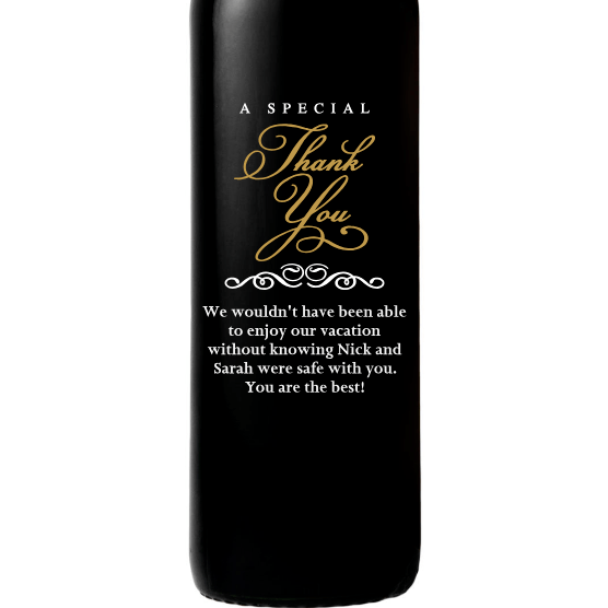 Red Wine - Special Thank You - Corporate