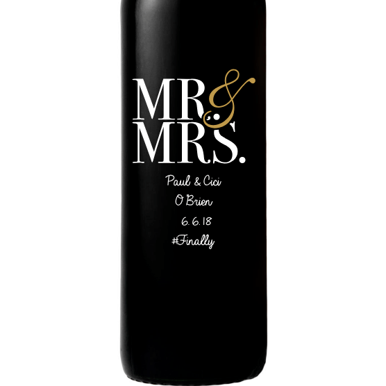 Red Wine - Mr & Mrs Contemporary