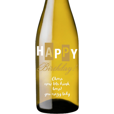 White Wine - Happy Birthday Bold