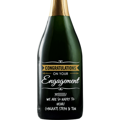 Champagne - Congratulations Engagement Banner
