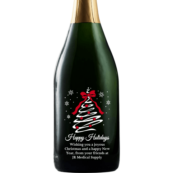 Champagne - Holiday Tree Swirl