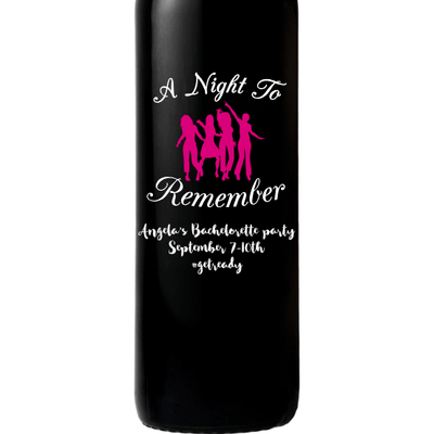 Personalized Red Wine Bottle Gift- Bachelorette Party Wine